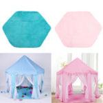 Оригинал Non-slipBabyPlayMatShortВолосы Игра Плюшевый матовый Kids Tent Hexagon Princess Castle Playhouse Pad