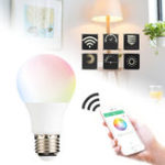 Оригинал 4.5W E27 WIFI Control Light Smart Bulb Wireless Dimmable RGBW LED Лампа Главная Украсьте AC85-265V