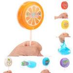 Оригинал 6PCS Crystal Fruit Slime 6.5cm DIY Глиняная милая грязь Интеллектуальная резинка десны Пластилин Toy Gift