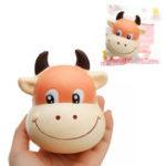 Оригинал Bull Head Squishy 10 * 8 см Медленный рост с подарком коллекции упаковки Soft Toy
