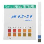 Оригинал Precision PH Test Strips Short Range 0.5-5.0 Индикатор тестера бумаги 100 полосок в коробке C Таблица цветов