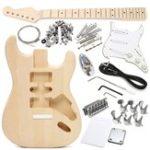 Оригинал DIY Электрический деревянный гитарный корпус с набором принадлежностей Неоконченный Набор для ST Style