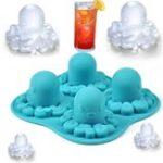 Оригинал FunnyNewTricksPartyDrinkingСиликоновый Лоток для льда 3D Octopus DIY Заморозка шоколадных форм Ice Cube Лоток для льда для льда