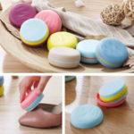 Оригинал Творческий портативный Macaron Hit Color Двусторонняя губка для обуви Кисти Mini Travel Cleaning Кисти