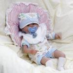 """Оригинал 14 """" Handmade Realistic Силиконовый Reborn Baby Dolls Lifelike Игрушки для новорожденных"""