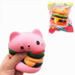 Оригинал GiggleBread Squishy Кот Burger 10.5cm Slow Rising Soft Подарочная упаковка для животных Оригинальная упаковка
