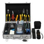 Оригинал 25PCS Optic Fiber FTTH Инструмент Набор Fiber Cleaver & FC-6S Оптический измеритель мощности W / Коробка Ремонт Инструмент