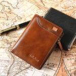 Оригинал EkpheroМужчиныRFID8слотовдля карт Retro Масло Кожаный кожаный кошелек