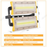 Оригинал 50W-150W LED Flood Light IP66 Cool Warm White Outdoor Path Spot Floodlight 240V LED Flash Light