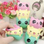 Оригинал 5,5 дюймов Squishy Toy Kawaii Медленная роспись мультфильма Squeeze Stress Reliever Gift Collection
