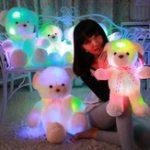 Оригинал 50CM Colorful Creative Glow Светодиодный Плюшевая подушка для медведя фаршированная Кукла Игрушка для игрушек для игрушек для друзей