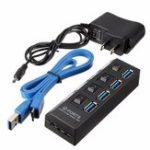 Оригинал 4 порта USB 3.0 Высокоскоростной адаптер HUB с коммутационным кабелем