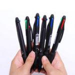 Оригинал Deli 0,7 мм 4 в 1 Colorful Шариковая ручка Ручка Многоцветная выдвижная шариковая головка Ручкаs Многофункциональная Ручка