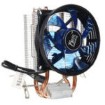 Оригинал Core LED CPU Quiet Fan Cooler Heatsink Cooling Equipment для Intel Разъем LGA1156 / 1155/775 AMD AM3 Устройство