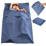 Оригинал 180x210CMДвойнойспящийСумка Портативный вкладыш полиэстер Pongee Folding Travel Sleeping Mat