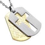 Оригинал Classic Крест Кулон Ожерелье из нержавеющей стали Hang Tag