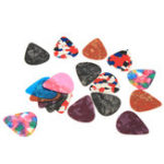 Оригинал 18Pcs 0.46mm Celluloid Guitar Picks для акустических бас-гитарных частей