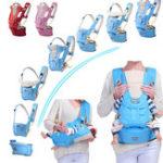 Оригинал 7 в 1 Регулируемый младенец для новорожденного слинга Дышащий Эргономичный ремешок для рюкзака Baby Carriers