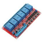 Оригинал 12V DC 6-канальный релейный модуль Самоблокирующийся триггер блокировки для Arduino