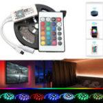 Оригинал DC12V 2 * 5M Не водонепроницаемый SMD2835 Smart WIFI Alexa Google Домашний контроль Гибкий RGB LED Газа