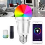 Оригинал 7W E27 WiFi LED RGB Light Smart Bulb APP Дистанционное Управление для Echo Alexa Главная страница Google AC85-265V
