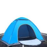 Оригинал НаоткрытомвоздухеПешиепрогулкиКемпинг Палатка Anti-UV 2 лица Сверхлегкая складная палатка Pop Up Automatic Open