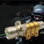 Оригинал 12 × 30 см Аккумуляторное золото Лазер Зрение Зеленая луча Точечный прицел 20 мм Стандартная рейка Waver Rail Mount