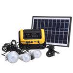 Оригинал Солнечная Генератор DC Солнечная Приводная система с Радио MP3 Солнечная Источник питания для фонарика