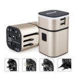 Оригинал Все в One Универсальный международный штекерный адаптер 2USB Ports World Travel Зарядное устройство переменного тока US UK AU EU