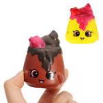 Оригинал 2шт Шоколадный пудинг Squishy 6.5 * 3.5см Медленный рост Soft Коллекция подарков Декор Игрушка
