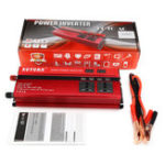 Оригинал LED Дисплей Инвертор питания 2000 Вт постоянного тока 12 В до 220 В переменного тока LED 4UBS 2 AC Outlets Converter