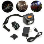 Оригинал 3W LED Шахтеры Cordless Cap Security Light Hard Шапка Helmet Head Лампа Взрывозащищенные