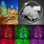 Оригинал 10M 100LED Fairy String Light На открытом воздухе Рождество Свадебное Сторона Лампа Водонепроницаемы 220V EU Plug