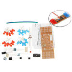 Оригинал 3Pcs DIY Двойной цвет LED Вспышки Набор Электронное производство NE555+CD4017 Практика обучения Набор