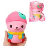 Оригинал Медведь Squishy 13 * 8.5 * 9см Медленный рост с подарком коллекции упаковки Soft Игрушка