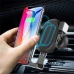 Оригинал Qi Беспроводная 10W Быстрая зарядка Gravity Auto Замок Авто Подставка для телефона для iPhone 8 X Мобильный телефон
