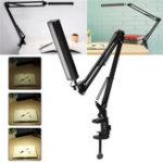 Оригинал 5W Long Arm Clip Touch Dimmable LED Настольный письменный стол Лампа USB-считывающий светильник Домашнее украшение