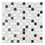 Оригинал Современная черно-белая трехмерная кирпичная мозаика Плитка для настенной бумаги Ванная комната Наклейка на домашний декор для кухни
