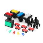 Оригинал 50x33MM Прямоугольник Красный Синий Зеленый Желтый Белый LED Кнопка для игрового консольного контроллера DIY