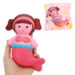 Оригинал Русалка Squishy 16 * 9CM медленно растет с подарком коллекции упаковки Soft Игрушка