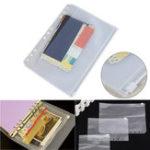 Оригинал A5A6A7ПВХПрозрачныйфайл Маленькие вещи Хранитель хранения Сумка для 6 отверстий Спираль Binder Notebook