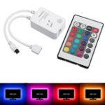 Оригинал 4Pins Music Sound Датчик Контроллер + 24 клавиши Дистанционное Управление Для RGB LED Стрим-телевизор Backlight DC5V