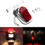 Оригинал мотоцикл Задние задние фонари Тормозной стоп-сигнал Лампа Лицензия Пластина Кронштейн для Harley Chopper Cafe Racer