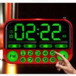 Оригинал ПортативныеколонкиНаоткрытомвоздухеТанцевальная динамик TF-карта USB FM Радио Музыкальный объемный MP3-плеер Большая кнопка