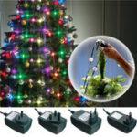 Оригинал 3 Режимы Colorful LED Рождественская елка Фея Ночь Праздничная лампочка Лампа Украшение AC110-240V