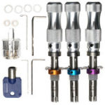 Оригинал Ремонт слесаря цилиндра Инструмент 3Pcs 7Pin Tubular Pick Инструмент Авто & Аксессуары для автомобилей