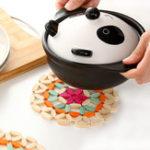 Оригинал BambooPlacematsПолыекруглыековрикидля тарелок Термостойкие анти-жарочные Чай Кубки Coasters Placemat