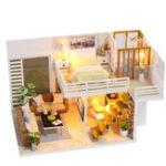 Оригинал iiecreate K031 Simple And Elegan DIY Кукла Дом с мебельной крышкой