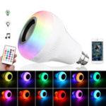 Оригинал E27 B22 18W RGBW + Цветной Bluetooth Музыкальный проигрыватель Светодиодный Bulb Дистанционное Управление AC85-265V