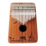 Оригинал Джонас 17 ключей Калимба Африканское красное дерево Вуд Thumb Фортепиано Finger Перкуссия Музыкальные подарки